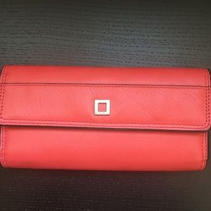 Stylish Red Leather Lodis Wallet